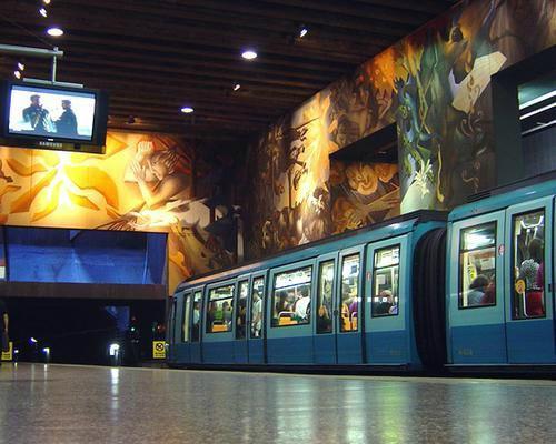 Metr de santiago do chile post com mapa e aplicativo for Mural metro u de chile