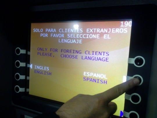 Caixa eletronico Como tirar dinheiro no Chile