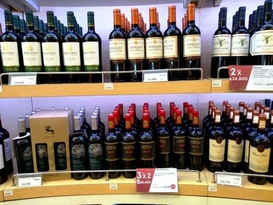 compra de vinho no duty free em Santiago do Chile