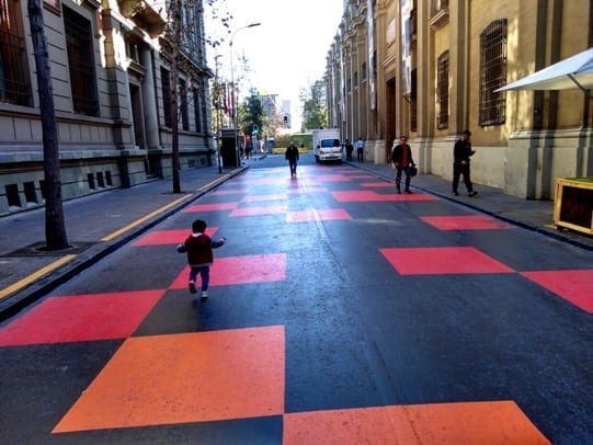 rua bandeira santiago Chile, paseio bandeira, calle bandera