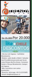 Cupom Desconto - City tour em Santiago