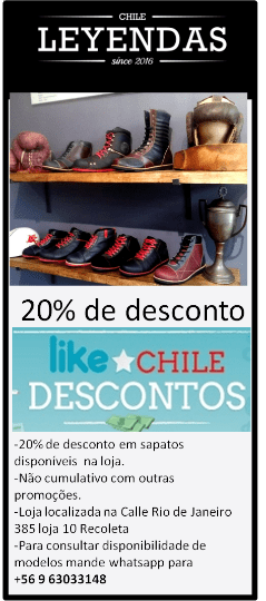 Cupom Desconto - Loja sapatos exclusivos Leyenda