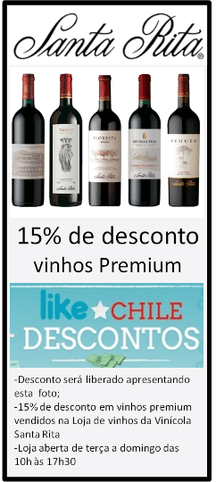 Cupom Desconto - Vinhos da Santa Rita