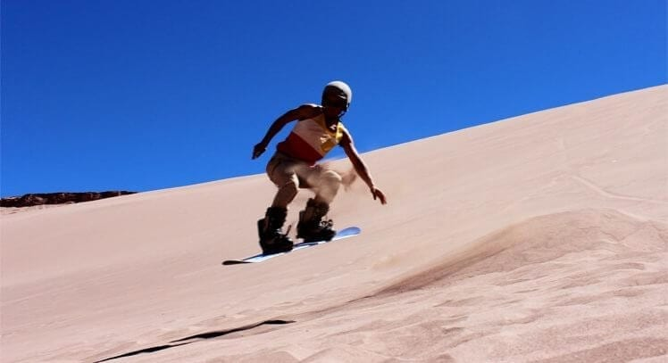 Sandboard no Valle de La Morte