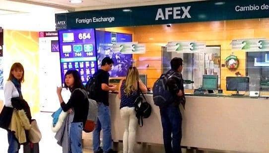 Casa de Cambio no aeroporto de Santiago do Chile, Afex aeroporto de Santiago