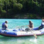 Família em Flutuador