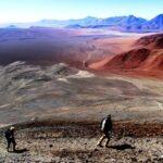 Vulcão Lascar em San Pedro de Atacama, Deserto do Atacama,