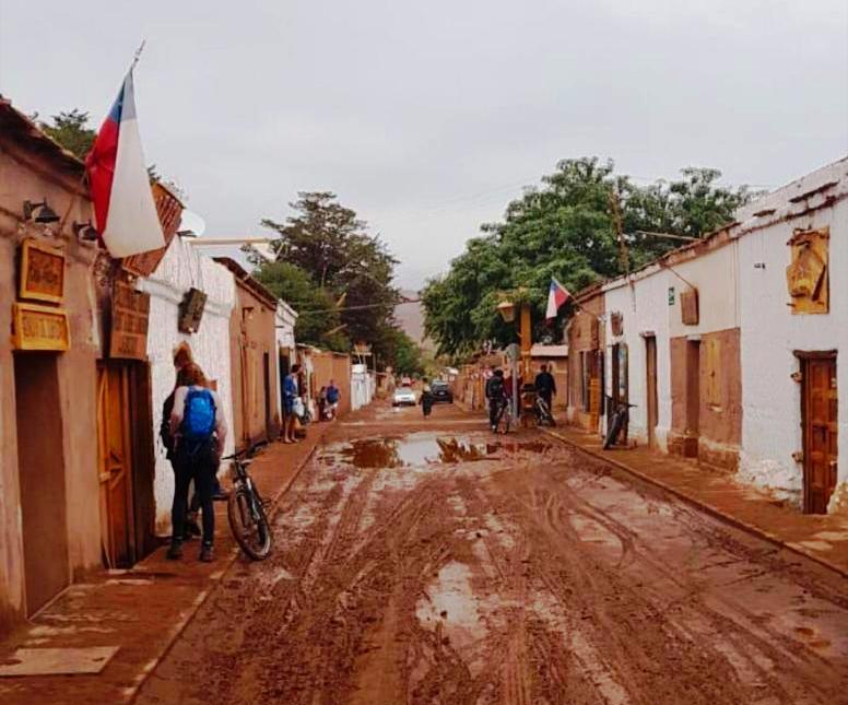 Inverno altiplanico, chuvas, tormentas alagamentos em San Pedro de Atacama