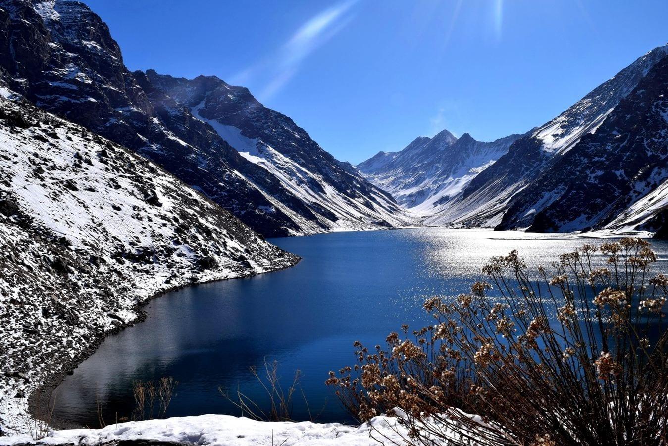 laguna del Inca Centro de ski Portillo, neve, como chegar, passeios, cuesta los caracoles, paso los libertadores chile