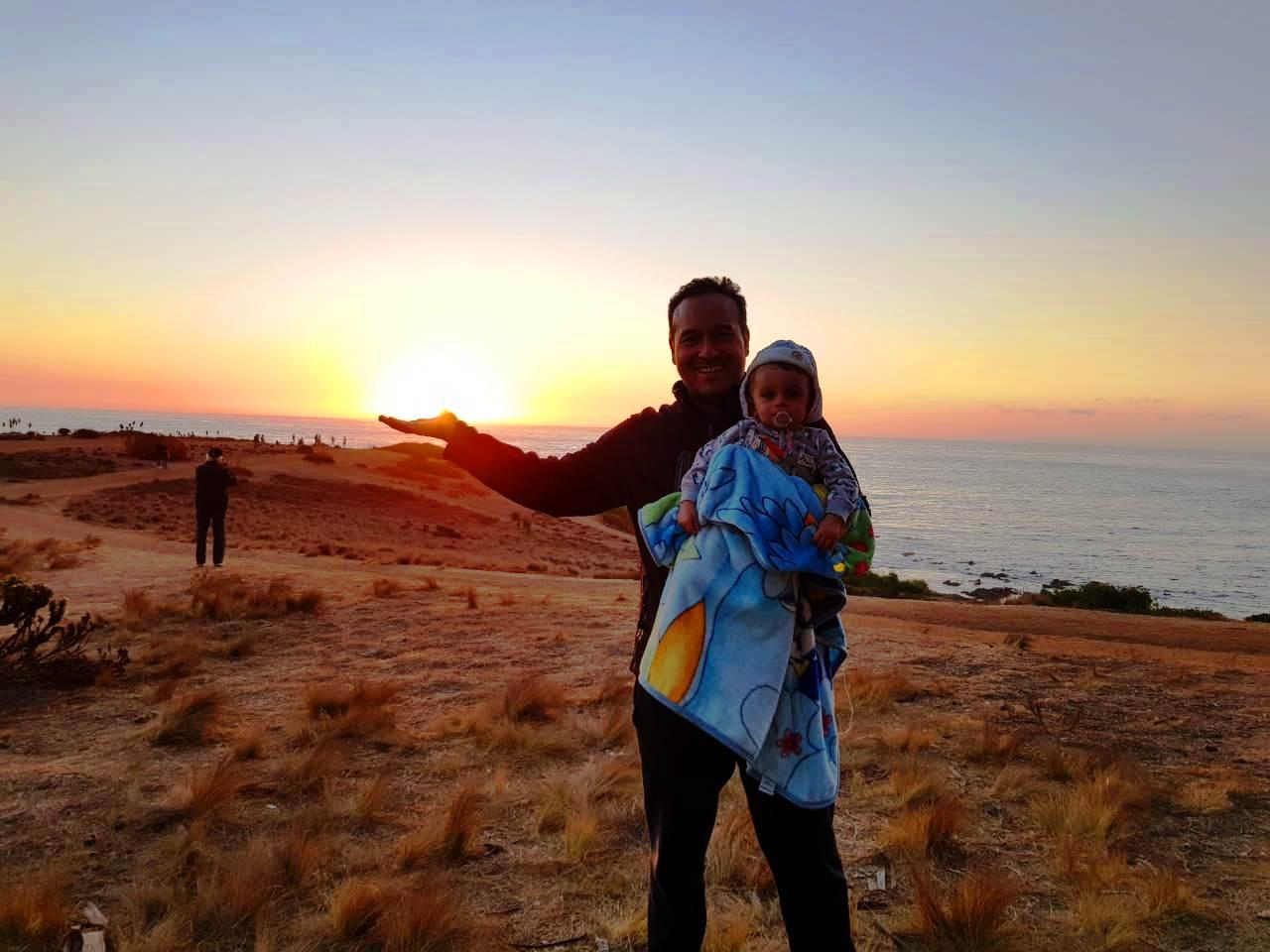 Pôr do sol em Algarrobo, El Canelo Chile, LikeChile